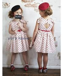 Girls Heart Pattern Dresses Children Vintage Dress Shape Backless Dressy Clothing Kid Gown Ball Bowknot