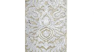 Homely Idea Mirror Mosaic Wall Art With Champagne Mirrored Damask Panel Pier 1 Imports