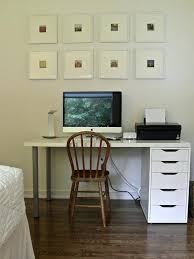 Simple Home Office With Framed Pictures Wall Decor White Wooden ... Home Office Designers Simple Designer Bright Ideas Awesome Closet Design Rukle Interior With Oak Woodentable Workspace Decorating Feature Framed Pictures Wall Decor White Wooden Gooosencom Men 5 Best Designs Desks For Fniture Offices Modern Left Handed