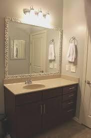 Brown Mosaic Bathroom Mirror by Bathrooms Design Supreme Diy Bathroom Mirror Frame Ideas Finest