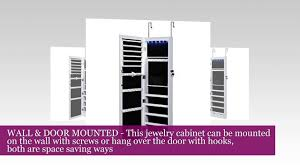SONGMICS Lockable Jewelry Cabinet Wall Door Mounted Jewelry ... Innerspace Overthedowallhangmirrored Jewelry Armoire Over The Door With Mirror Hives And Honey Best 25 Jewelry Armoire Ideas On Pinterest Wall Hang Deluxe Walmartcom Home Decators Collection White Armoire50265410 The Hsn Haing Mirrored Full Cabinet Choice Image Doors Design Ideas Rustic With New Lighting For Over Door Abolishrmcom Halle Overstockcom