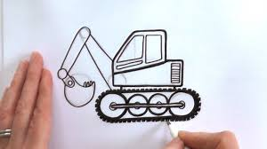 How To Draw A Cartoon Digger - YouTube How To Draw Dump Truck Coloring Pages Kids Learn Colors For With To A Art For Hub Trucks Boys Make A Cake Hand Illustration Royalty Free Cliparts Vectors Printable Haulware Operations Drawing Download Clip And Color Page Online