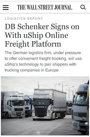DB Schenker Signs On With UShip Online Freight Platform - About UShip Coyote Logistics 2013 Youtube Tql Chicago Why Ups Is Buying Business News Retail Mchandiser Trucking Company Best Image Truck Kusaboshicom Third Party Transportation Provider Strive Named To Transport Topics Top Freight Brokerage Firms List To Acquire And Shipping Firm Keeptruckin Form A Strategic Alliance Help