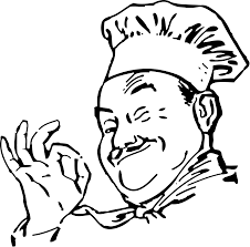 Chef Black And White Cartoon Milk clipart
