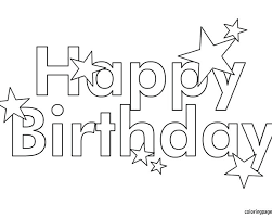 Happy Birthday Coloring Pages Pdf Free Printable Best Ideas On Print Beach