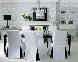 White Dining Room Chair Slipcovers On Cream Covers