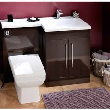 L Shaped Bathroom Vanity Unit by Cassellie