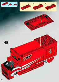 100 Ferrari Truck LEGO Truck Instructions 8185 Racers