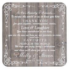 Rustic Party Wedding Thank You Square Paper Coaster