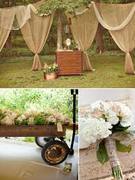 Rustic Outdoor Wedding Decoration Idea Uniqueness Of Decorations