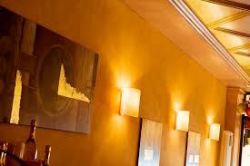 contemporary wall light glass halogen curved crio ivela spa