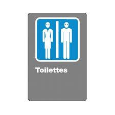 affiche toilette pour homme femme formats matériaux divers