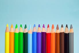 Green Art Wood Sharp Pencil Group Blue Col
