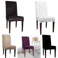 Universal Polyester Stretch Chair Cover Spandex Elastic Jacquard ... Stretch Ding Chair Covers Easy Removable Slipcover For Chunky Amazoncom My Decor Solid Pu Leather Kitchen Table And Chairs Padded Ding Chair Covers 11 Products Graysonline Soft Micro Suede Set Of Two Shortly Fit Up To 42 Linen Slip Cover Echo Lowback Great Bay Home Velvet Plush Slipcovers Senarai Harga 2pcs One Piece Lace Pattern Stylish 24 Lovely Black Room Progressive Fniture Charlotte