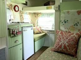 Fascinating Travel Trailer Decor Lacy Young Makeover Decorating Ideas Retro
