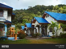 100 Thai Modern House Blue Roof Image Photo Free Trial Bigstock