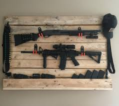 Diy Hidden Gun Cabinet Plans by Pallet Gun Rack Guns N Knives Pinterest Guns Pallets And