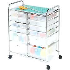 10 Drawer Rolling Organizer Rolling Storage Cart Drawers Mesh