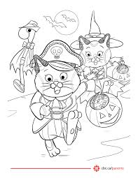 Free Printable Halloween Colouring Pages Featuring Busytown Mysteries Super WHY Big Block