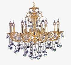 European Style Retro Golden Chandelier Lighting Lamp Luxury PNG Image And Clipart