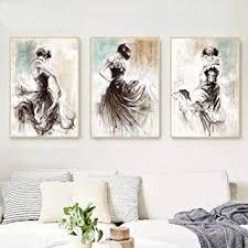 druck abstrakte handgemalte tänzerin poster ölgemälde auf