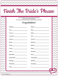 Can You Guess What The Bride Will Say When Shes Given A Phrase Bridal Charades Words