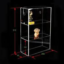 Image Is Loading 3 TIER Acrylic Display Box Case Sliding Door