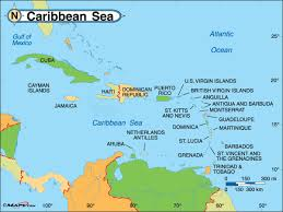 Political Map For Caribbean