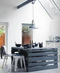 table en bois de cuisine que faire des palettes de bois idées deco et design