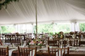Tent Wedding Reception Rustic Theme Wood Table Centerpiece Pink Flowers