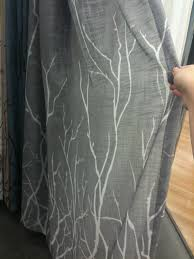 Bed Bath And Beyond Grommet Blackout Curtains by Gray Curtain With White Branches From Bed Bath And Beyond For 35