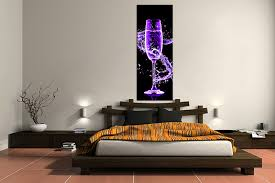1 Piece Canvas Wall Art Bedroom Wine Artwork Pictures Purple Print