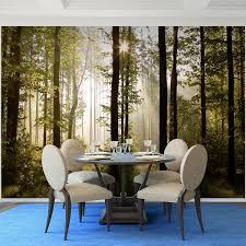 fototapeten 396 x 280 cm wald landschaft sonne vlies wanddekoration wohnzimmer schlafzimmer deutsche manufaktur grün braun 9010012a