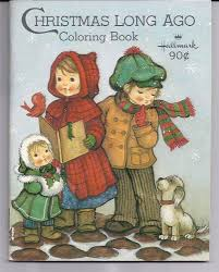 Vintage 1970s Children Hallmark Christmas Coloring Book