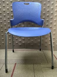 Herman Miller Caper Chair Colors by Cubes2u Herman Miller Caper Armless Stack Chair Blue