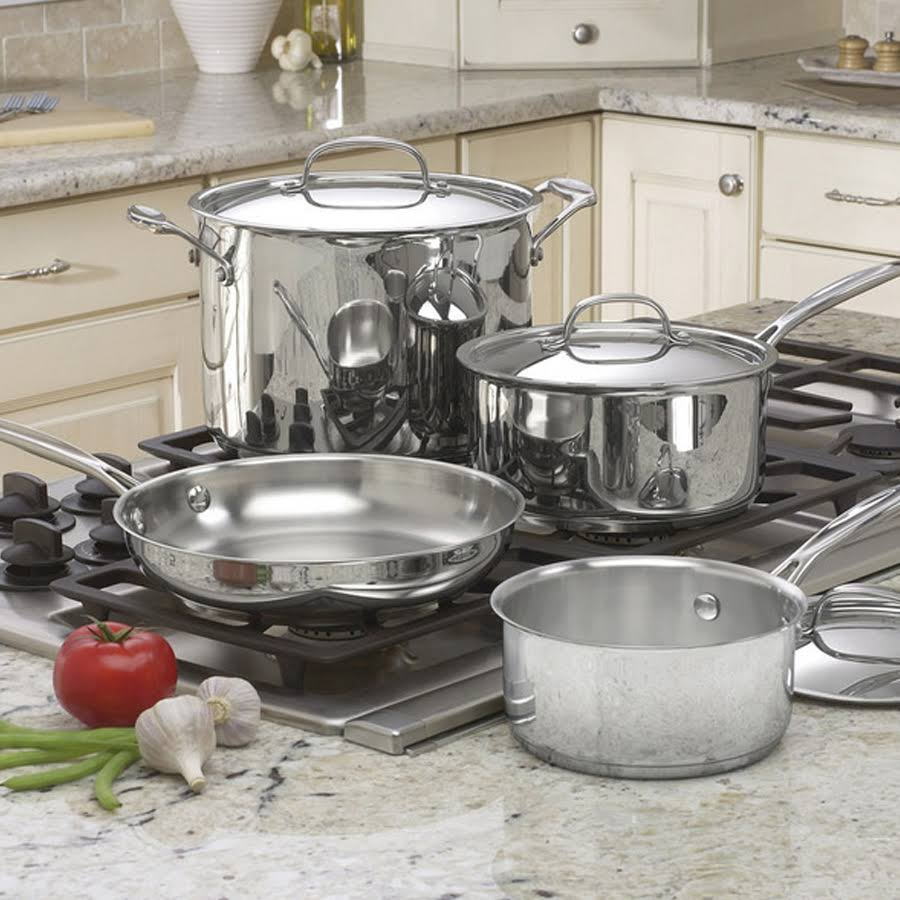 Cuisinart Chef's Classic Stainless Steel Cookware Set - 7pc