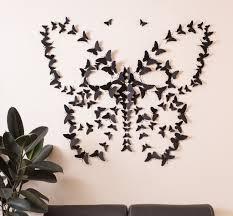 Spectacular Black D Butterfly Wall Art