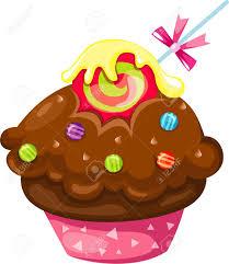 Chocolate cupcake Stock Vector