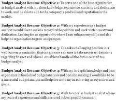 Resume Objective For Manufacturing Sample Finance Statements