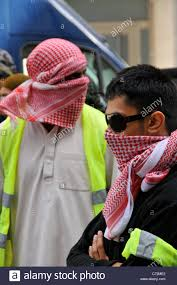 young muslims wearing scarves 9 11 anniversary muslim protesters