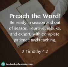 Preach The Word In Season And Out Of