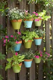 Recycled Pallet Vertical Garden With Pots 101 Pallets