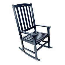 Navy Wood Slat Seat Outdoor Rocking Chair At Lowes.com