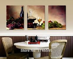 Big Size Wall Art For Dining Area Painting Modern Hanging Decor Impressive Wine And Grapes
