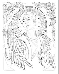 The Colouring Page I Used Was Jin Because He Is My Bias