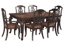 Gladdenville Brown Rectangular Dining Room Extension Table W 2 Arm Chairs 4 Side