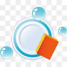 Dishwashing Png Vector Material Wash Dishes Bubble Sponge PNG And