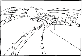 Landscape Coloring Pages Countryroad