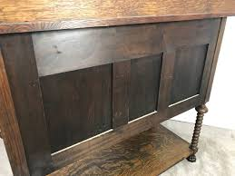 stunning antique tiger oak cabinet with turned legs claw feet and