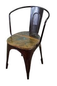 Impressive Rustic Metal Dining Chairs Island Kitchen Regarding Attractive